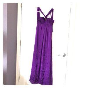 Halter neck formal gown, purple BCBG